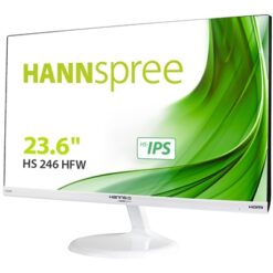 "Hannspree HS246HFW 24"" Full HD LED VGA / HDMI with Speakers IPS White Monitor"