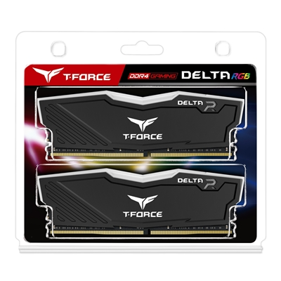 Team DELTA RGB 16GB Black Heatsink with RGB LEDs (2 x 8GB) DDR4 2666MHz DIMM System Memory