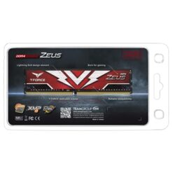 Team T-Force Zeus 16GB Red Heatsink (1 x 16GB) DDR4 2666MHz DIMM System Memory