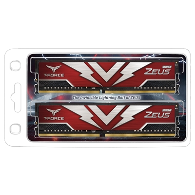 Team T-Force Zeus 16GB Red Heatsink (2 x 8GB) DDR4 3200MHz DIMM System Memory