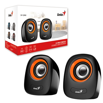 Genius SP-Q160 Orange Stereo Speakers