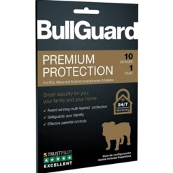 Bullguard Premium Protection 2020 1 Year/10 Device Single Multi Device Retail Licence English