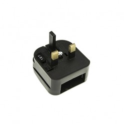 EU to UK 3A Converter Plug Black