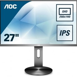 "AOC Q2790PQE 27"" QHD Widescreen IPS VGA / HDMI / Display Port 5ms Height Adjustable USB Monitor"